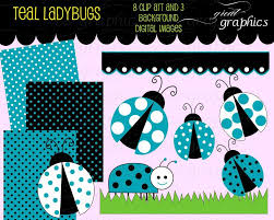 lady bug clip art teal ladybug digital clip art digital paper