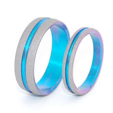 blue titanium wedding band 17 best images about rings on tungsten wedding band