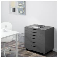 What Is Ikea Furniture Made Out Of Alex Drawer Unit On Casters White Ikea