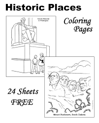 memorial coloring pages historic places patriotic coloring pages and pictures for kids