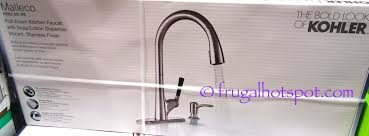 Costco Kitchen Faucet by Costco Kohler Malleco Pull Down Kitchen Faucet 149 99 Frugal