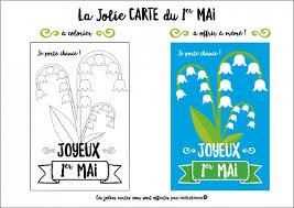 Cartes offertes Les jolies cartes du 1er mai à colorier ou à