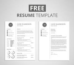 free modern resume templates free resume template and cover letter on behance