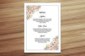 free wedding menu templates for template for receipts free blank