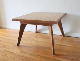 table small mid century coffee table accent modern cocktail