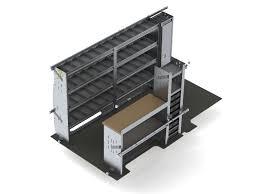 Cargo Van Shelves by Ranger Electrician Van Shelving
