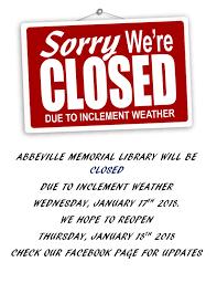 abbeville bureau library closed abbeville memorial library