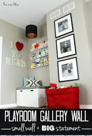 Gallery Wall Frames by 3 Stacked Frames Mini Playroom Gallery Wall This Is Our Bliss