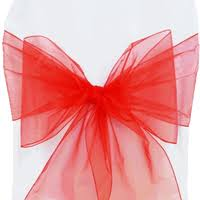 organza sashes organza chair sashes chair ribbons chair bows ties