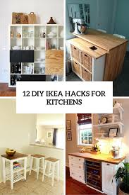 ikea furniture kitchen 12 functional and smart diy ikea hacks for kitchens shelterness