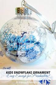 easy ornaments for preschoolers a snowflake ornament preschool craft