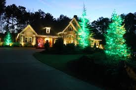 Outdoor Christmas Lights Decorations by Christmas Light Hanging Service Decorations Photo Gallery