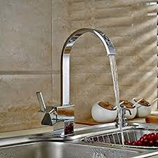 kitchen water faucet auralum classic square kitchen water tap faucet sink with nickel