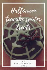 halloween teacake spider treats the gingerbread house co uk