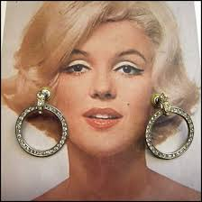 50s earrings deco earrings 1950s clear swarovki hoops