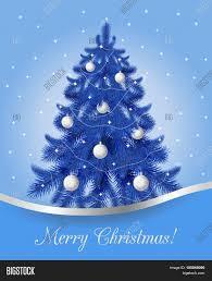 greeting card blue christmas tree vector u0026 photo bigstock