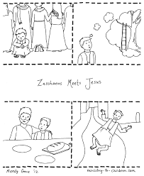 jesus and zacchaeus coloring page wallpaper download