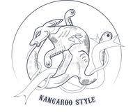 kangaroo ornament stock vector image of background classic
