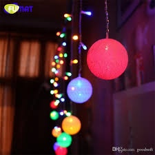 2017 curtain fairy little wool ball string lights led pendant ball