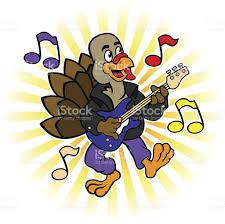 thanksgiving turkey electric guitar stock vector