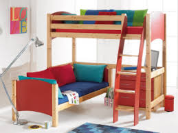 LShaped Bunk Beds From Rainbow Wood - L bunk bed