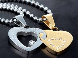 engraved jewelry engraved 2 hearts couples necklaces jewelry set for two