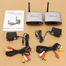 2 4ghz av wireless transmitter receiver sender audio video w ir