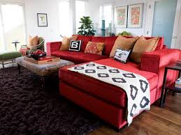 red couch decor vibrant red sofas hgtv