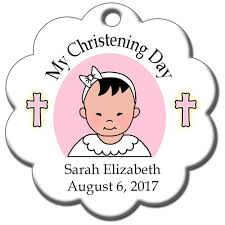 personalized baptism or christening ornament mandys moon