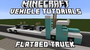 minecraft police car minecraft vehicle tutorials flatbed truck minecraft game