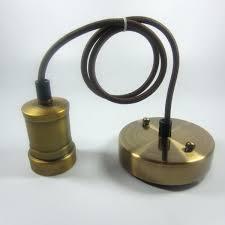 Retro Pendant Lighting Retro Pendant Lights Head Copper Lamp 3 Light Stem Kit Lighting