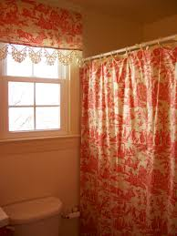 retrospect red toile shower curtain and matching valance shower