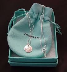 round sterling silver necklace images Tiffany co notes letter m round pendant sterling silver necklace jpg