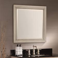 bathroom artistic bathroom mirrors square beige wood frame black