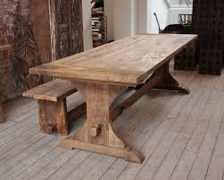 distressed wood dining table bench med art home design posters
