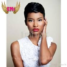 short hairstyle wigs for black women lace front full lace rihanna chic pixie cut short human hair wigs