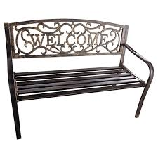 Home Benches Exterior Patio Bench Home Depot Iron Arbor Outdoor With Wood