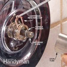 How To Fix A Pull Out Shower Faucet How To Fix A Dripping Shower Family Handyman