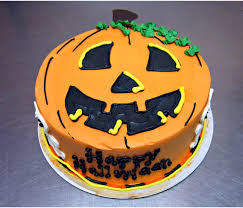happy halloween nothing says it better than a jack o lantern cake