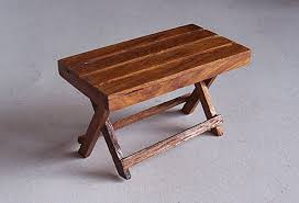 Wooden Outdoor Tables Dollhouse Miniature Handcrafted Vintage Picnic Table Bench