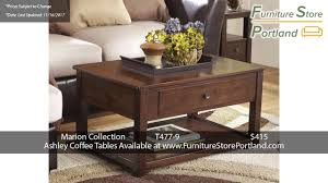 ashley marimon coffee table sale prices for ashley coffee tables pt 1 portland 2017 youtube