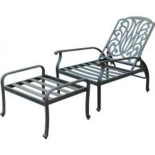 Recliner With Ottoman Darlee Elisabeth Cast Aluminum Patio Reclining Club Chair And