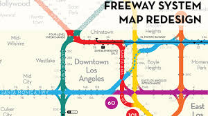 Greater Los Angeles Map by Los Angeles Freeway Map Redesigned By Peter Dunn U2014 Kickstarter