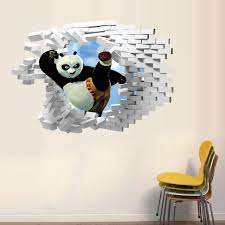 Kids Room Wall Stickers by Kung Fu Panda Finding Nemo 3d Wall Sticker Home Décor Wall Decals