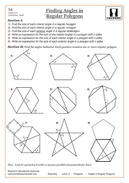 How To Calculate Interior Angles Of An Irregular Polygon Angles In Polygons By Cazoommaths Teaching Resources Tes