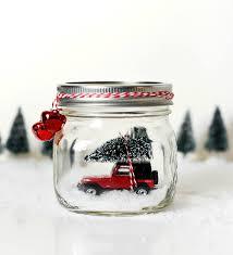 jeep christmas decorations car in jar snow globe red jeep wrangler in mason jar snow