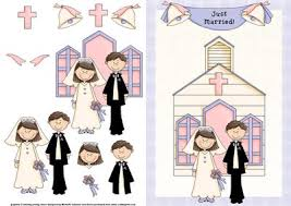 just married cards just married card front with decoupage cup70550 376 craftsuprint