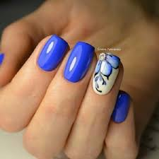 65 blue nail art ideas classy nails white nail art and white nails