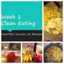 broke and bougie clean eating week 1 meal plan