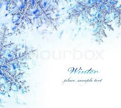 snowflake decorative border beautiful blue cold frozen snow